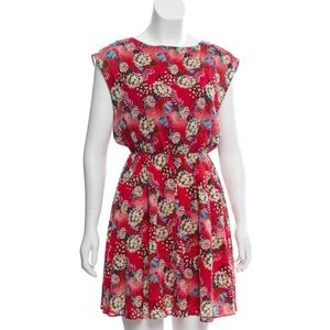 NWOT Alice + Olivia Silk Floral Sleeveless Mini  L